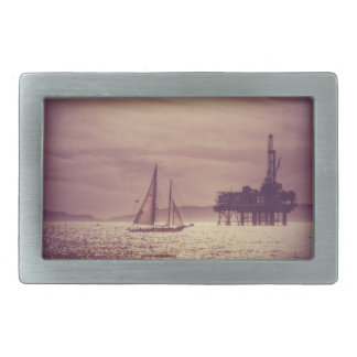 Sailing Across The Golden Sea Rectangular Belt Buckle
