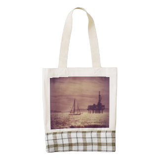 Sailing Across The Golden Sea Zazzle HEART Tote Bag