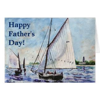 Sailing Along Fine Art Sailboats Watercolor Card