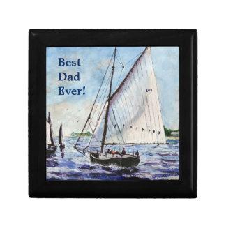 Sailing Along Fine Art Sailboats Watercolor Trinket Boxes