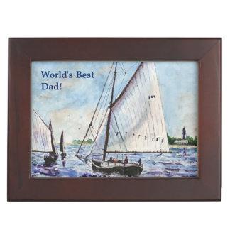 Sailing Along Fine Art Sailboats Watercolor Memory Box