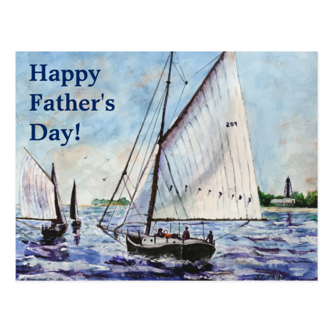 Sailing Along Fine Art Sailboats Watercolor Postcards