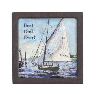 Sailing Along Fine Art Sailboats Watercolor Premium Trinket Boxes
