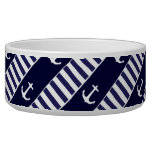Sailing anchor and stripes pattern bowl