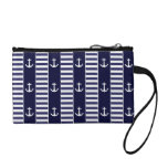 Sailing anchor and stripes pattern coin wallet