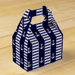 Sailing anchor and stripes pattern favor box