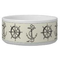 Sailing Anchor Nautical Rope Dog Pet Food Bowl