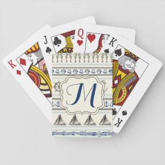 Sailing Anchor Nautical Rope Knot Playing Cards