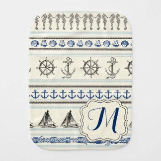Sailing Anchor Nautical Rope Knot Sail Burp Cloth