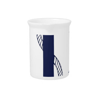Sailing Anchor Navy Drink Pitcher