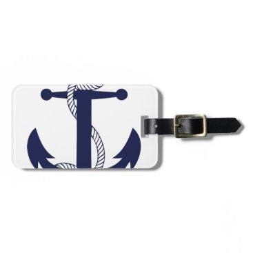 Sailing Anchor Navy Luggage Tag