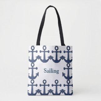 Sailing-Anchors Away-Personalized-Handbag / Tote
