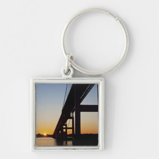 Sailing and leaving Newport Rhode Island Keychain