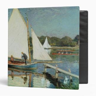 Sailing at Argenteuil, c.1874 3 Ring Binder