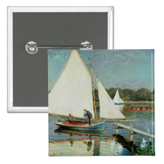 Sailing at Argenteuil, c.1874 Buttons