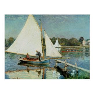 Sailing at Argenteuil, c.1874 Postcard