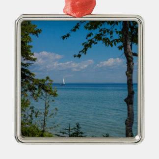 Sailing At Mackinac Metal Ornament