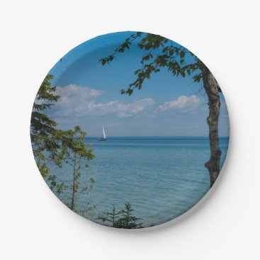 Sailing At Mackinac Paper Plate