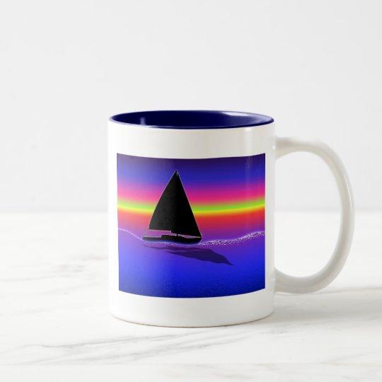 Sailing at Sunset Mug