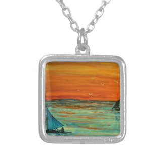 Sailing at sunset pendants