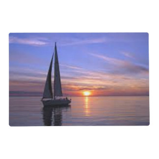 Sailing at Sunset Placemat