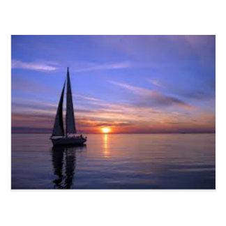 Sailing at Sunset Postcard
