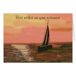 Sailing at Sunset Retirement Card