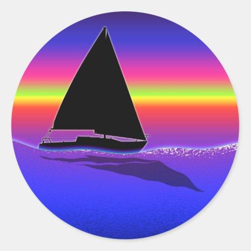 Sailing at Sunset Sticker