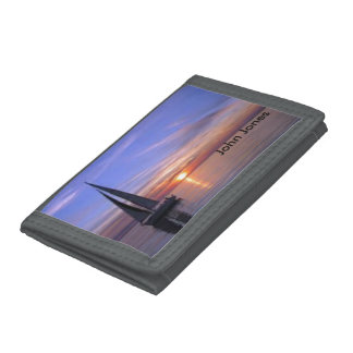 Sailing at Sunset Trifold Wallets