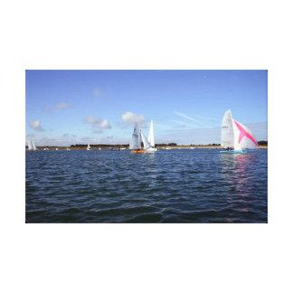 Sailing at Wells Next Sea, Norfolk Canvas Print