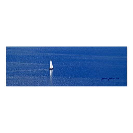 sailing away business card templates