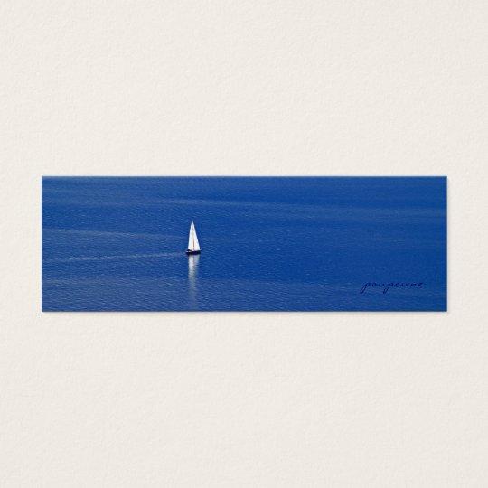sailing away mini business card