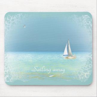 Sailing away mouse pad