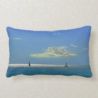 Sailing Away On The Deap Blue Sea Lumbar Pillow
