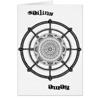 Sailing Away Steering Wheel Greeting Card