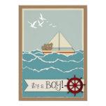 "Sailing Baby Shower Invitation 5"" X 7"" Invitation Card"