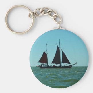 Sailing barge keychain