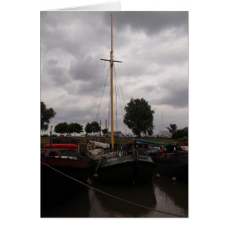 Sailing Barge On A Grey Day Card