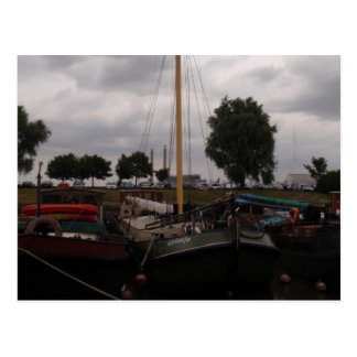 Sailing Barge On A Grey Day Postcard