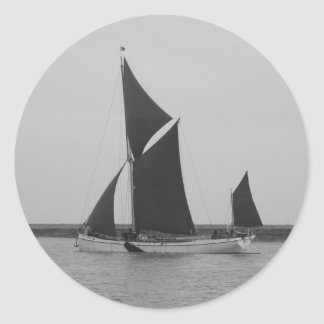 Sailing Barge Reminder Classic Round Sticker