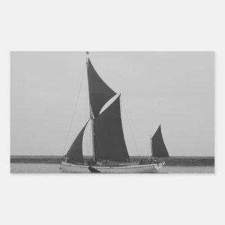 Sailing Barge Reminder Rectangular Sticker