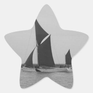 Sailing Barge Reminder Star Sticker