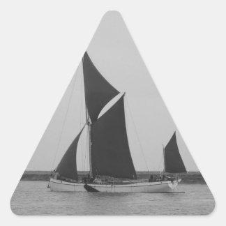 Sailing Barge Reminder Triangle Sticker