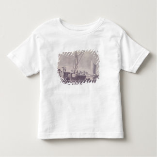 Sailing Barges Approaching a Wharf Toddler T-shirt