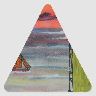 Sailing before the storm triangle sticker