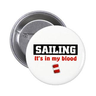 Sailing Blood Pinback Button