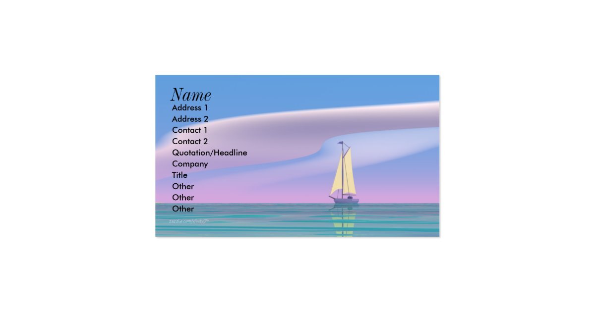 Sailing Blue Business Size Business Card