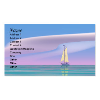 Sailing Blue - Business Size Double-Sided Standard Business Cards (Pack Of 100)