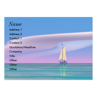 Sailing Blue - Chubby Large Business Cards (Pack Of 100)