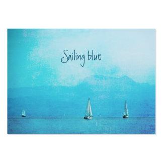 sailing blue large business card